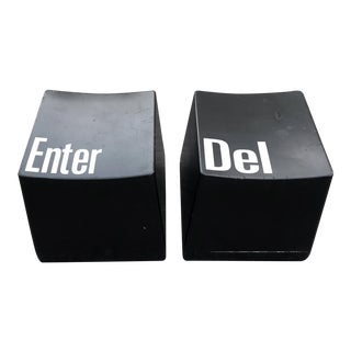 Post Modern Enter and Delete Keyboard Stools - a Pair For Sale