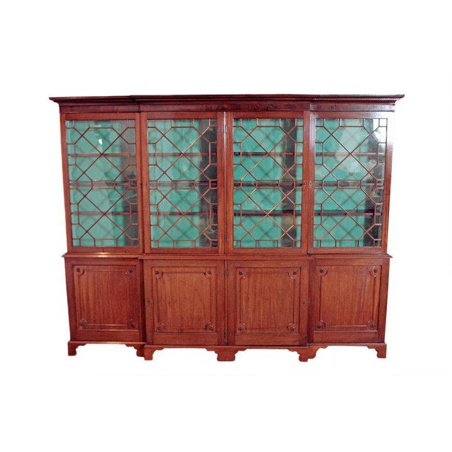 Late 18th Century George III Mahogany Breakfront For Sale - Image 13 of 13