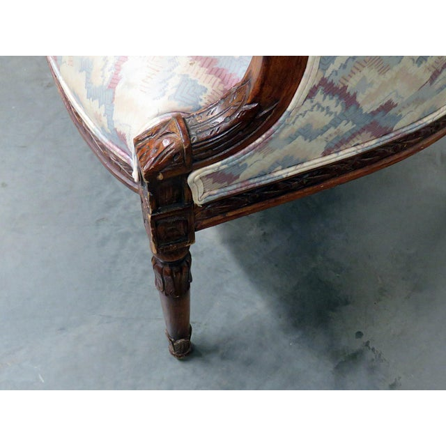 Regency Style Club Chairs - a Pair For Sale - Image 9 of 13