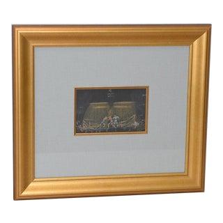 """1950's Mahlon Blaine """"Saludo"""" Boxing Match Original Pastel Painting For Sale"""