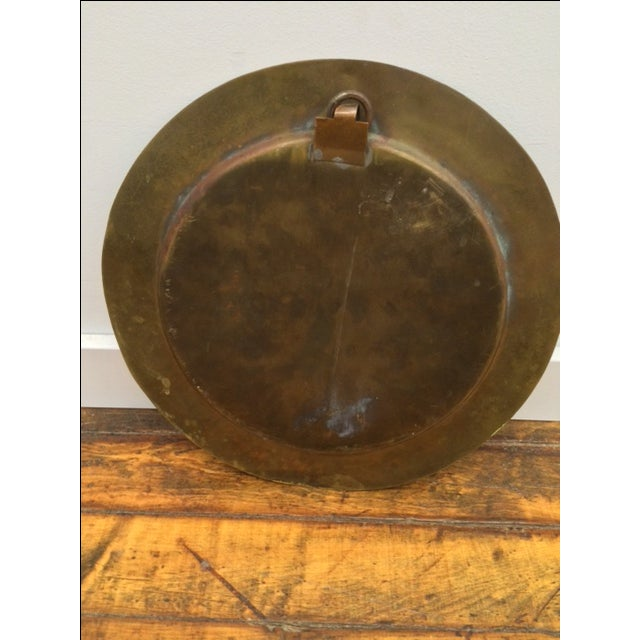 Vintage Brass Tray W/ Mosaic Tile Inlay - Image 3 of 4