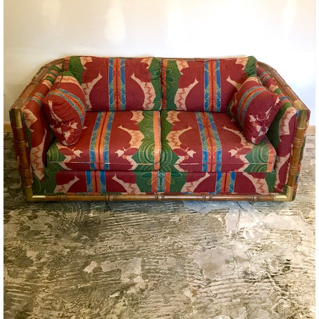 Campaign Campaign Loveseat For Sale - Image 3 of 13