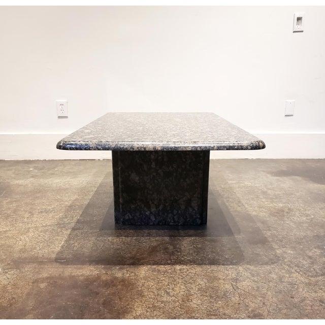 1980s 1980s Rectangular Italian Granite Coffee Table For Sale - Image 5 of 10