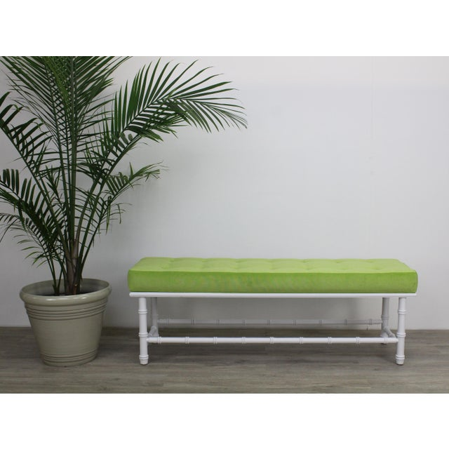 Mid-Century Modern Mid-Century Palm Beach Style Bench For Sale - Image 3 of 9