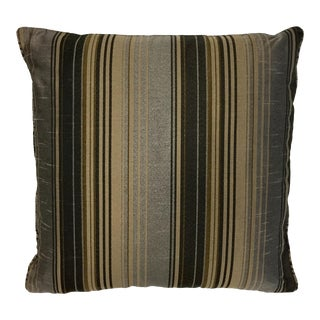 Contemporary Striped Acetate Throw Pillow For Sale