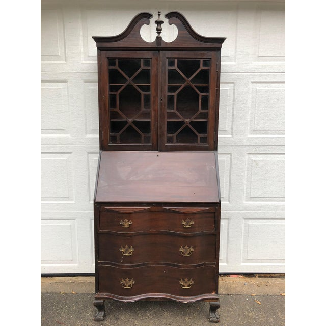 1920s 1920s Antique Maddox Mahogany Secretary Desk For Sale - Image 5 of 5 - 1920s Antique Maddox Mahogany Secretary Desk Chairish