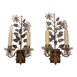 Rock Crystal Light Sconces - A Pair