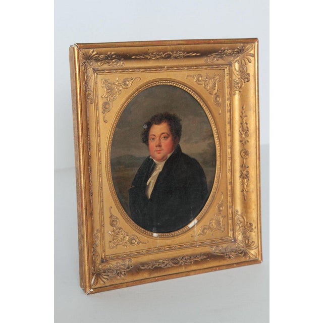 Early 19th Century French Oil on Canvas of a Man Dressed in Black For Sale - Image 4 of 13