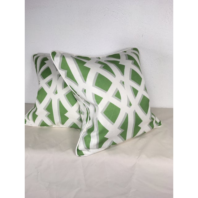 Modern Modern Cotton Geometric Pillows – a Pair For Sale - Image 3 of 10