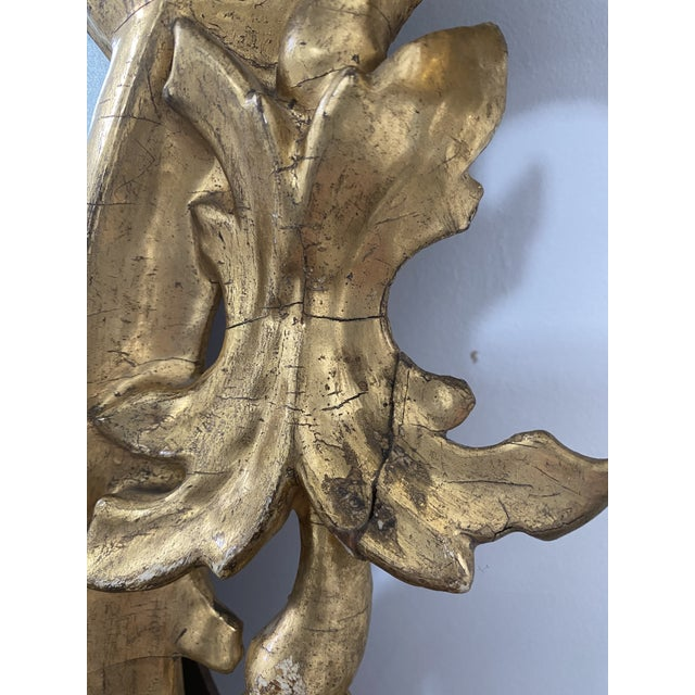 Wood Antique 19th Century Italian Baroque Gilt Mirror For Sale - Image 7 of 13