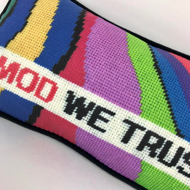 """Boho Chic """"In Mod We Trust"""" Pillow For Sale - Image 3 of 9"""