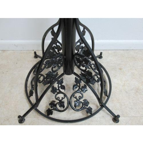 1960s Vintage French Regency Metal Ivy Dining Table Base For Sale - Image 5 of 11