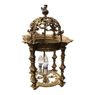 1960s Vintage Spanish Brass Chandelier** For Sale