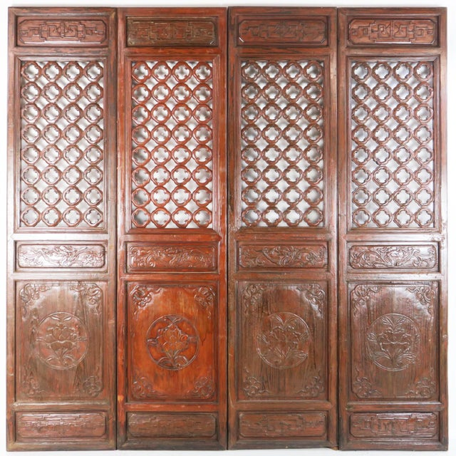 Early 20th Century Antique Chinese Carved Courtyard Doors For Sale - Image 13 of 13