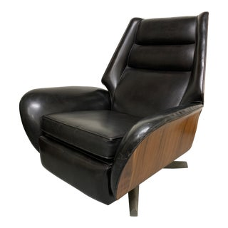 1960s Vintage Raymond Loewy for BarcaLounger Reclining Lounge Chair For Sale