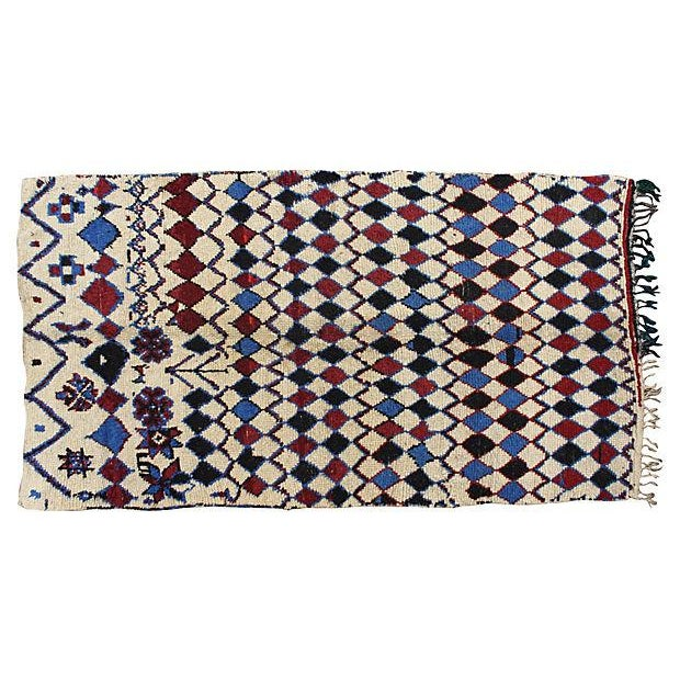 Vintage Azilal Moroccan Rug - 8'4'' x 4'8'' For Sale - Image 4 of 4