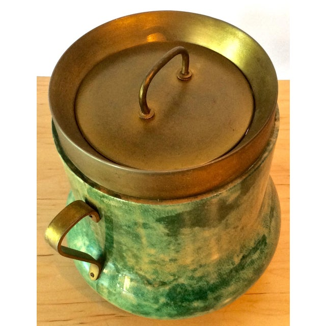 Aldo Tura Lacquered Goatskin Ice Bucket - Image 4 of 8
