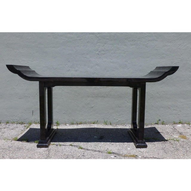 1970s Maitland Smith Tessellated Horn Console Table For Sale - Image 11 of 11