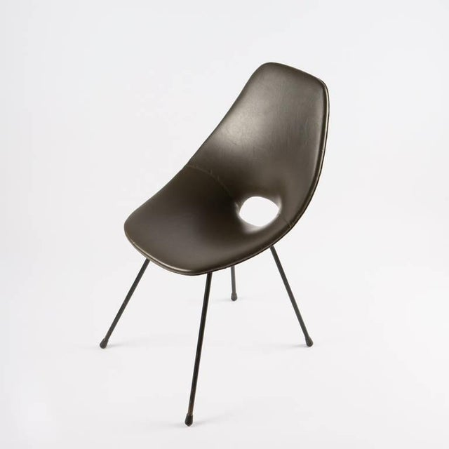"Unusual upholstered ""Medea"" chair by Vittorio Nobili for Tagliabue."