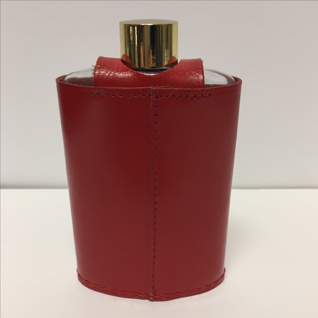 Vintage Flask In Red Leather Case - Image 4 of 5