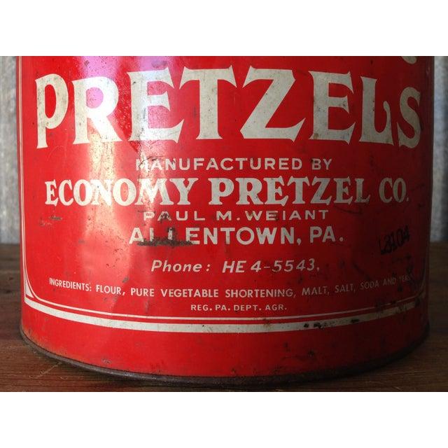 Vintage Eat Economy Pretzels Container - Image 5 of 8