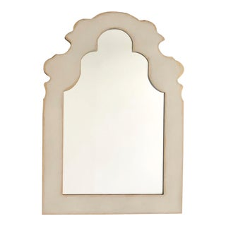 Traditional Gray and Brushed Gold Metal Mirror