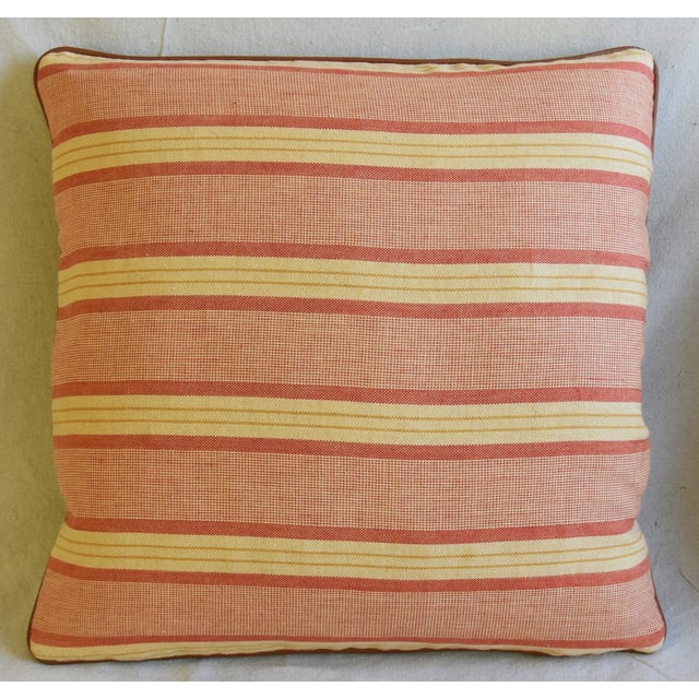 """Rogers & Goffigon & Leather Feather/Down Pillows 20"""" Square - Pair - Image 3 of 13"""