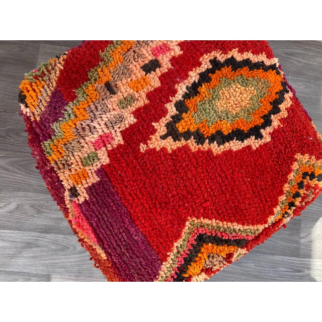 Moroccan 1980s Vintage Moroccan Pouf Cover For Sale - Image 3 of 10