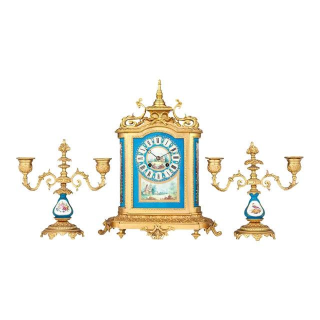 Sèvres Clock Garniture - Set of 3 For Sale