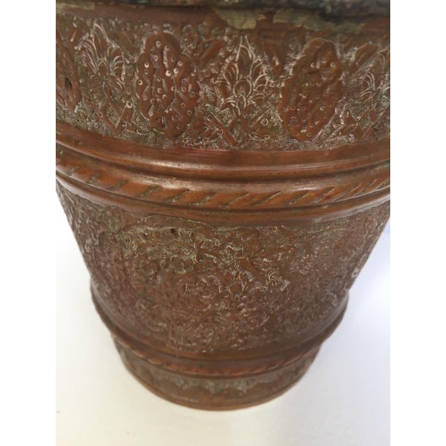 Anglo-Raj Mughal Metal Copper Vessel Bucket For Sale - Image 11 of 12