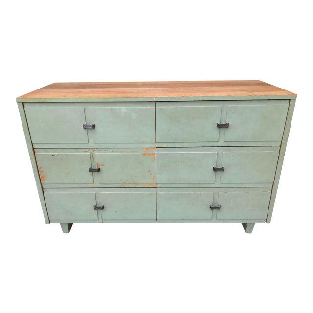 Antique Primitive-Style Six Drawer Dresser For Sale