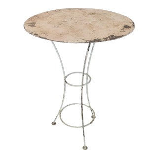 1930s French Bistro Side Table For Sale