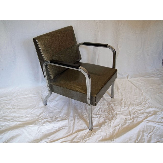 Contemporary Chrome Chairs With Vinyl Seats - Pair For Sale - Image 3 of 5