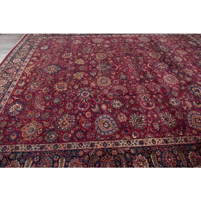 "Textile Apadana - Antique Distressed Persian Mashad Rug, 11'11"" x 15'5"" For Sale - Image 7 of 7"