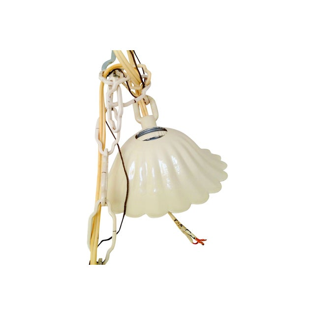 White Italian Tole Yellow Rose Chandelier For Sale In Los Angeles - Image 6 of 6