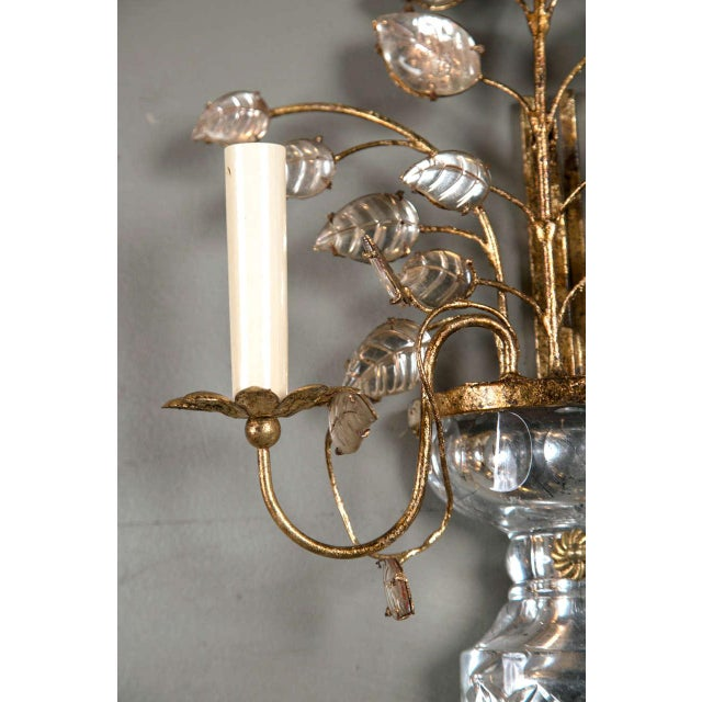 1930s 1930s French Gilt Metal Sconces - a Pair For Sale - Image 5 of 8