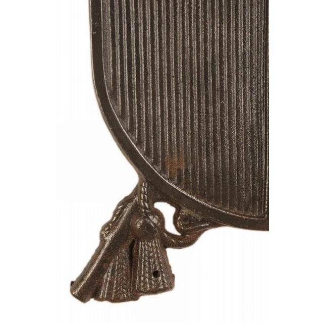 Late 19th Century Late 19th Century French Solid Cast Iron Plaque For Sale - Image 5 of 5