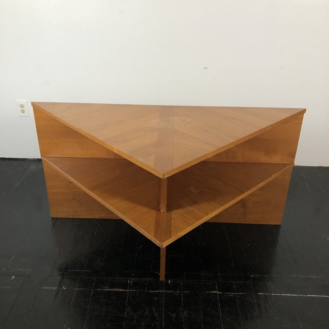 1970s Danish Laurits M Larsen Teak Triangle Coffee Tables - a Pair For Sale - Image 5 of 13