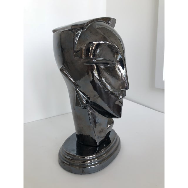 "20th Century Abstract Porcelain Art Deco ""Myng"" Head Sculpture Bust - Image 6 of 7"