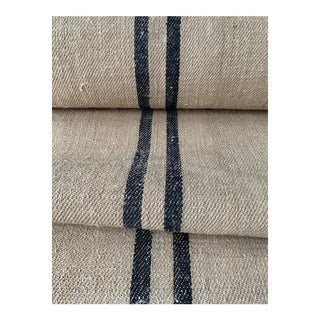 Rustic Heavy Hemp Grain Sack Fabric By The Yard For Sale