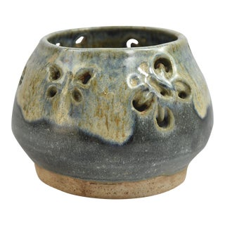 Butterfly Studio Pottery Stoneware Votive Candle Holder