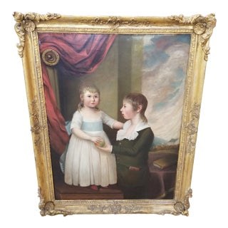Early American Portrait of Children For Sale