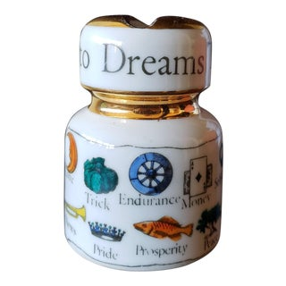Piero Fornasetti Porcelain Paperweigh- the New KeyTo Dreams, Circa Late 1950s. For Sale