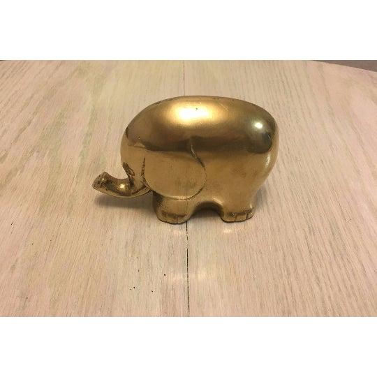 Vintage Chubby Brass Elephant - Image 6 of 6