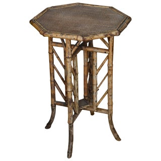 19th Century English Bamboo Side Table For Sale