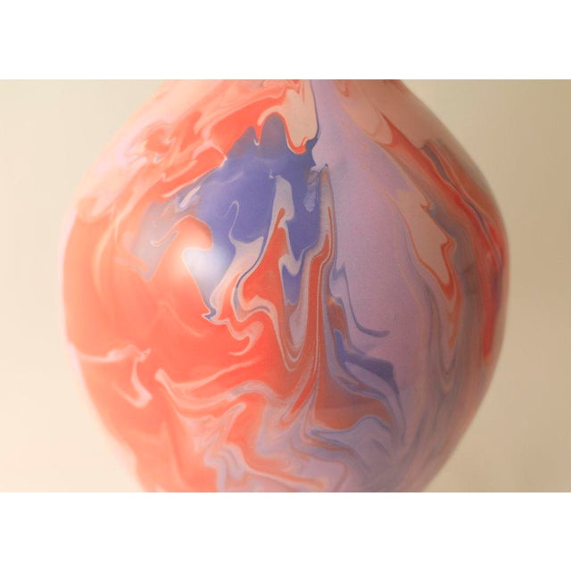 """Ceramic Paul Schneider Ceramic """"Athens"""" Lamp in Geode Lilac and Powder Glaze For Sale - Image 7 of 8"""