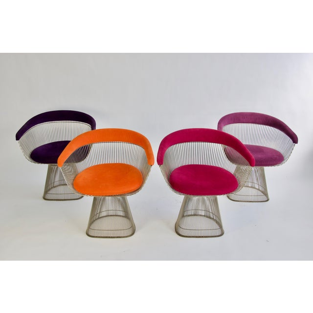 Mid-Century Modern Set of Four Warren Platner Chairs For Sale - Image 3 of 11