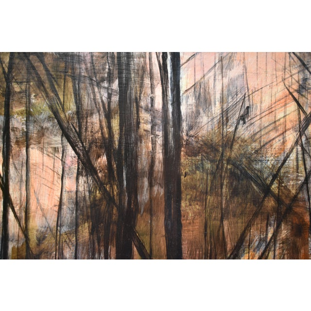 """Stephen Remick """"Sunrise in the Snowy Woods"""" Painting For Sale - Image 10 of 13"""