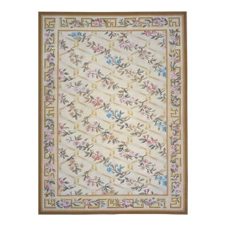 """Pasargad Aubusson Hand Woven Wool Rug - 10'1"""" x 13'10"""""""
