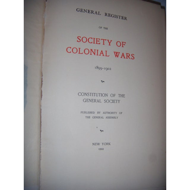 Antique 1896 - 1927 Society of Colonial Wars Books - S/9 - Image 5 of 11